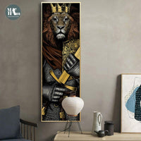 Knight Tiger Lion Skeleton Warrior Poster | Home Decor Wall Art - Avenila - Interior Lighting, Design & More