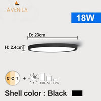 LED Dimmable Ceiling Light 12W 18W 24W 32W 220V With 3 Color Adjustable - Avenila - Interior Lighting, Design & More
