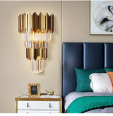 Luxury Gold Electroplated Two Level Modern Wall Sconces Bedside or Hallway Lighting - Avenila - Interior Lighting, Design & More