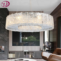 Luxury Silver Chandelier - Circular Lighting Glass LED Lamp - Avenila - Interior Lighting, Design & More
