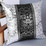 Luxury Vintage Black and Silver Decorative Cushion Cover - Avenila - Interior Lighting, Design & More