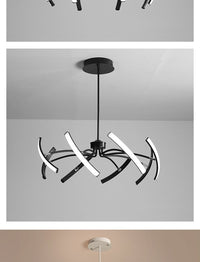 Matte Black/White 180°-360° Rotating Modern Led Chandelier - Avenila Selects - Avenila - Interior Lighting, Design & More