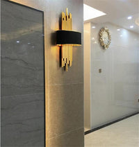 Metal Gold Pipe Led Wall Lamp with Black Body - Avenila - Interior Lighting, Design & More