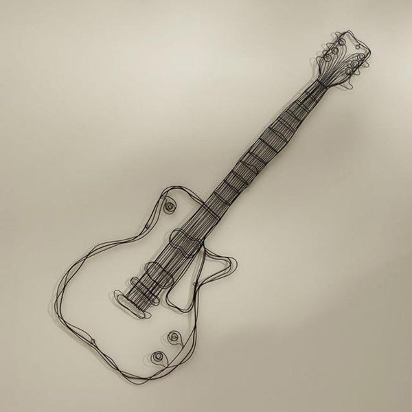 Metal Wire Guitar Wall Decor Art Music Wall Sculpture - Avenila - Interior Lighting, Design & More