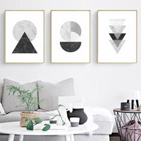 Minimalist Style Marble Geometric Pattern Abstract Decorative Canvas Painting Poster - Avenila - Interior Lighting, Design & More