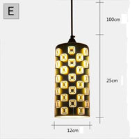 Modern 3D Colorful Nordic Starry Sky Hanging Glass Shade Pendant Lamp Lights E27 LED For Kitchen Restaurant Living Room - Avenila - Interior Lighting, Design & More