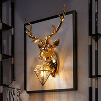 Modern American Retro Deer LED Wall Lamp - Avenila - Interior Lighting, Design & More