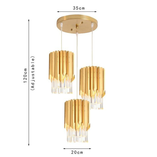 Modern Crystal & Gold Pendant Lights For Kitchen or Dining Room - Avenila - Interior Lighting, Design & More