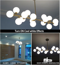 Modern Glass Balls Pendant Lamp Light Luxury Branch Chandelier Magic Bean LED Lighting Fixture Living Room Home Decoration - Avenila - Interior Lighting, Design & More