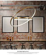 Modern Hanging 4/3/2/1 Circle Ring Chandelier - Avenila - Interior Lighting, Design & More