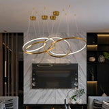 Modern LED Hotel Gold & Silver Ring Chandelier - Avenila Selects - Avenila - Interior Lighting, Design & More