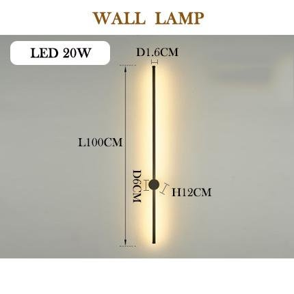 Modern LED Wall Lamp Long Hanging Minimalistic Lights - Avenila - Interior Lighting, Design & More