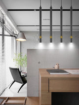 "Modern Long Hanging 1"" Wide Mini Pendant Lights - Avenila - Interior Lighting, Design & More"