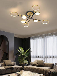Modern Minimalist Living Room Lamp Light Luxury Art Nordic Restaurant Chandelier - Avenila - Interior Lighting, Design & More