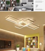 "Modern Multi-Square 33 1/2"" to 55"" Wide Aluminum Ceiling Lights - Avenila - Interior Lighting, Design & More"