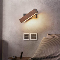 Modern Nordic Solid Wood LED Rotating Bedroom Wall Lamp - Avenila - Interior Lighting, Design & More