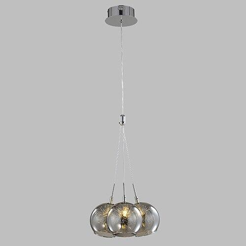 Modern Smoke Gray Glass Hanging Balls Chandelier Lighting - Avenila - Interior Lighting, Design & More