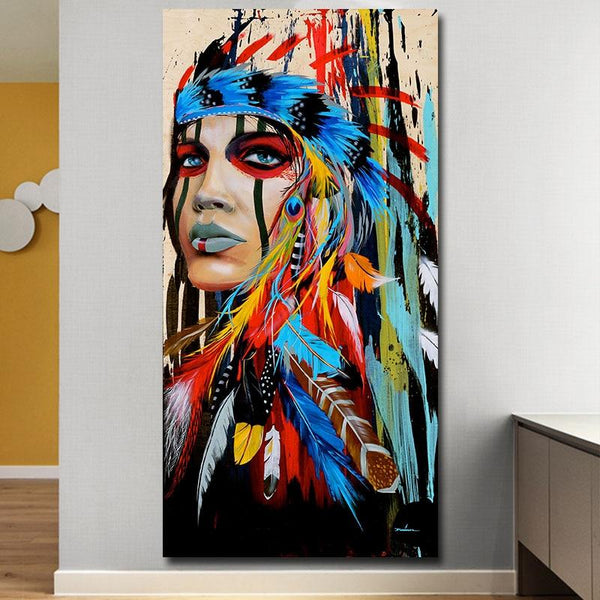 Modern Art Alpaca Avatar Retro Wall Canvas Painting Posters And Prints