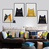 Modern Watercolor Cat And Avatar Poster Print Canvas Painting - Avenila - Interior Lighting, Design & More