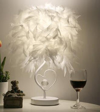 Multi-Color Dimmable Feather Bedside Table Lamp - Avenila Selects - Avenila - Interior Lighting, Design & More