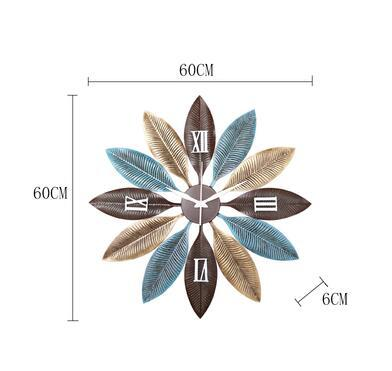 Nordic Creative Metal Feather Wall Clock - Avenila - Interior Lighting, Design & More
