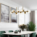 Nordic Loft Glass Ball Pendant Lights Creative Molecule Design Winehouse Living Room - Avenila - Interior Lighting, Design & More