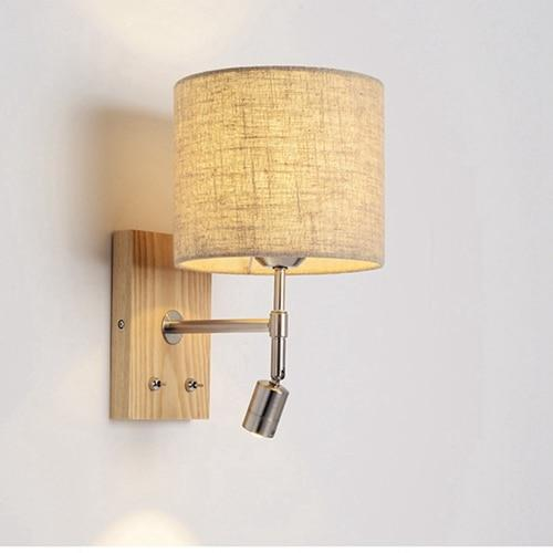 Nordic Wooden LED Bed Wall Lamp - Avenila - Interior Lighting, Design & More