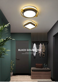 Orbital 2 Avenila LED Square and Round Black Gold and White Luxury Ceiling Light - Avenila - Interior Lighting, Design & More
