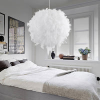 Pendant White Feather Hanging Light - Avenila - Interior Lighting, Design & More