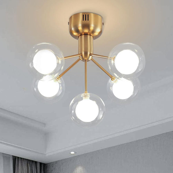 Post Modern Gold Ceiling Glass Ball Hallway Chandelier - Avenila Select - Avenila - Interior Lighting, Design & More