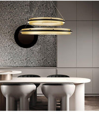 Post-Modern Light Luxury Round Honeycomb Aluminum Chandelier - Avenila - Interior Lighting, Design & More