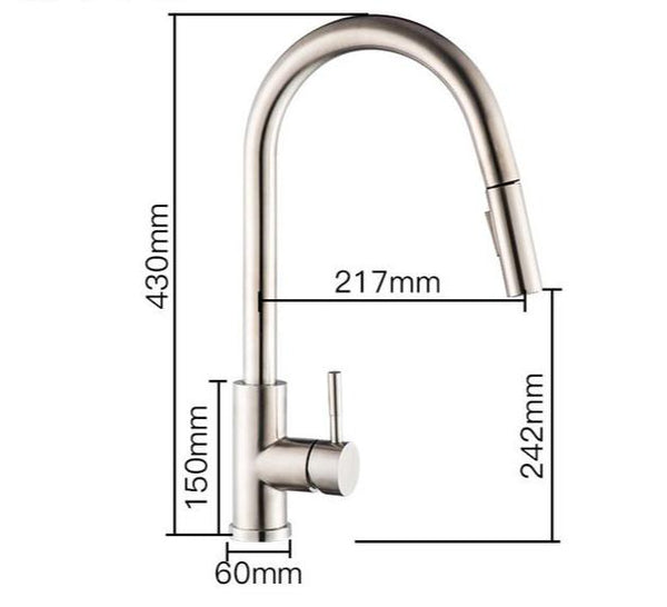 Stainless Steel 360 Degree Touch Control Smart Kitchen Faucet