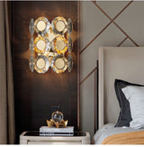 Avenila Luxury Gold Crystal Bedside Wall Sconce
