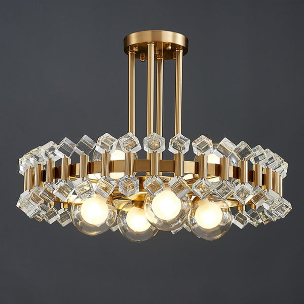 Avenila NEW Colorful Ball Candy Crystal Creative Chandelier