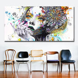 Beautiful Flower Girl Painting Canvas Wall Art Posters Print Pictures For Bedroom Home Decoration