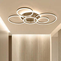 Remote Controller 2/3/5/6 Circle Rings Modern Led Chandelier - Avenila - Interior Lighting, Design & More