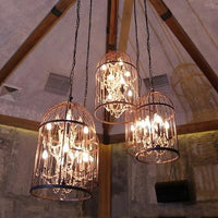 Retro Cage Crystal Pendant Light Indoor Pendant Lights - Avenila - Interior Lighting, Design & More
