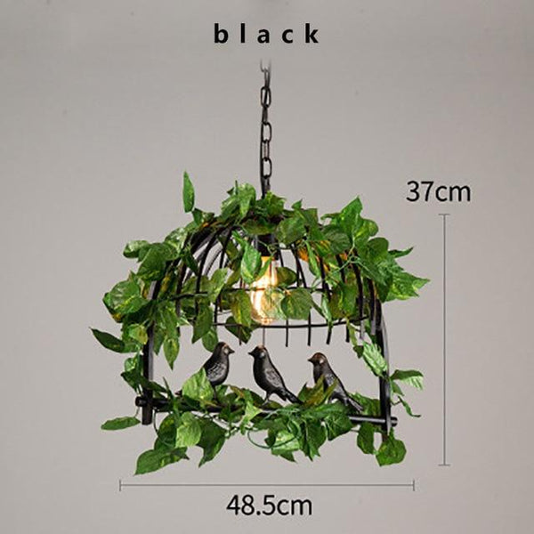 Retro Industrial LED Iron Chandelier with Bird Garden - Avenila - Interior Lighting, Design & More