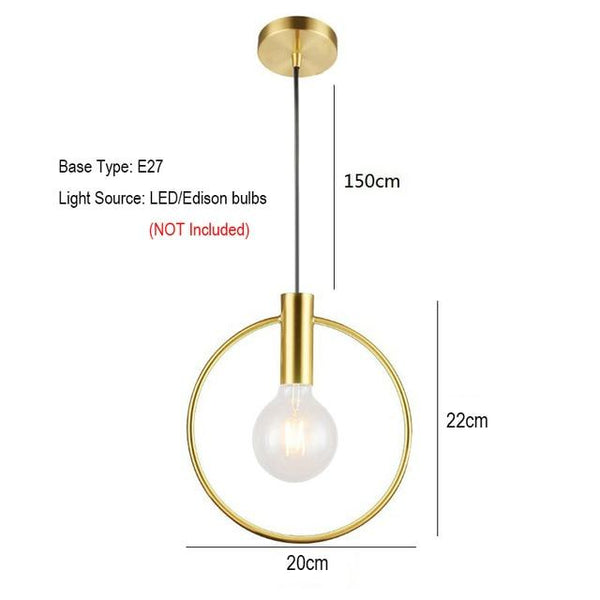 Ring Hanging Lights 20/30cm - Avenila - Interior Lighting, Design & More