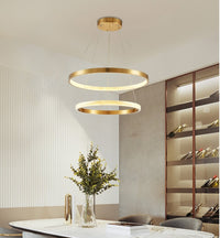 Semiflush Luxury Gold Circular Ring Chandelier - Avenila Luxury Selects - Avenila - Interior Lighting, Design & More