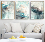 Simple Abstract Distortion Canvas Paintings Modular Pictures Wall Art Canvas Unframed - Avenila - Interior Lighting, Design & More
