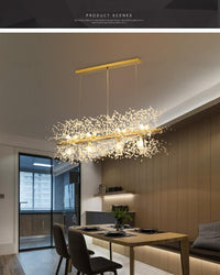Snowflake Crystal Living or Dining Room Chandelier - Avenila - Interior Lighting, Design & More