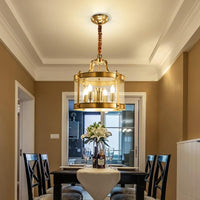 Sofrey Foyer Gold Glass and Copper Chandelier 20, 40, 50 60cm - Avenila - Interior Lighting, Design & More