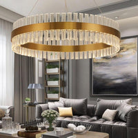 Sofrey Gold Bronze K9 Crystal Chandelier - Avenila - Interior Lighting, Design & More
