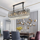 Sofrey Modern Black & White Crystal Chandelier - Avenila - Interior Lighting, Design & More
