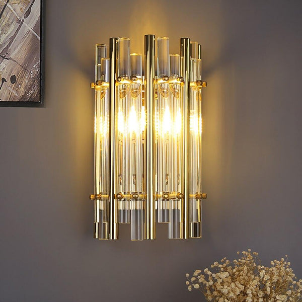 Sofrey Modern Crystal Wall Lamp Gold LED Crystal Sconce - Avenila - Interior Lighting, Design & More