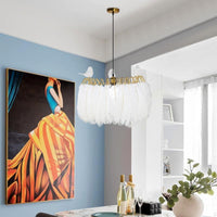 Sofrey White Feather Chandelier - Avenila Selects - Avenila - Interior Lighting, Design & More