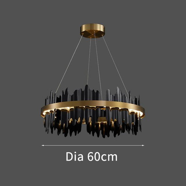 Spacestation Flush Mount Copper Multi-Level Chandelier - Avenila - Interior Lighting, Design & More