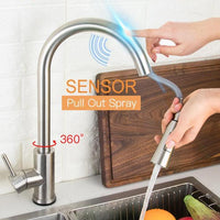 Stainless Steel 360 Degree Touch Control Smart Kitchen Faucet - Avenila - Interior Lighting, Design & More