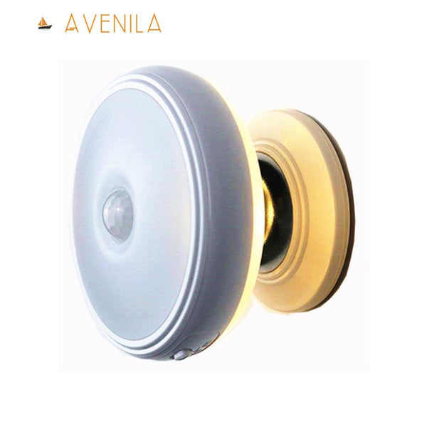 Star Rain Motion Sensor Light 360 Degree Rotating Rechargeable Magnetic LED Night Light Wall Lamp for Stair Kitchen Toilet Light - Avenila - Interior Lighting, Design & More